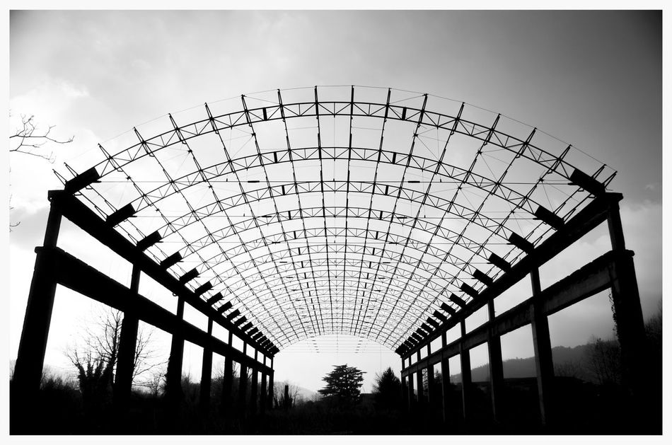 Abbandoned Architecture Day Industrial Industrial Architecture Industrial Building  Industrial Decay Industrial Photography No People Outdoors Silhouette Simmetrical Building Simmetry Sky