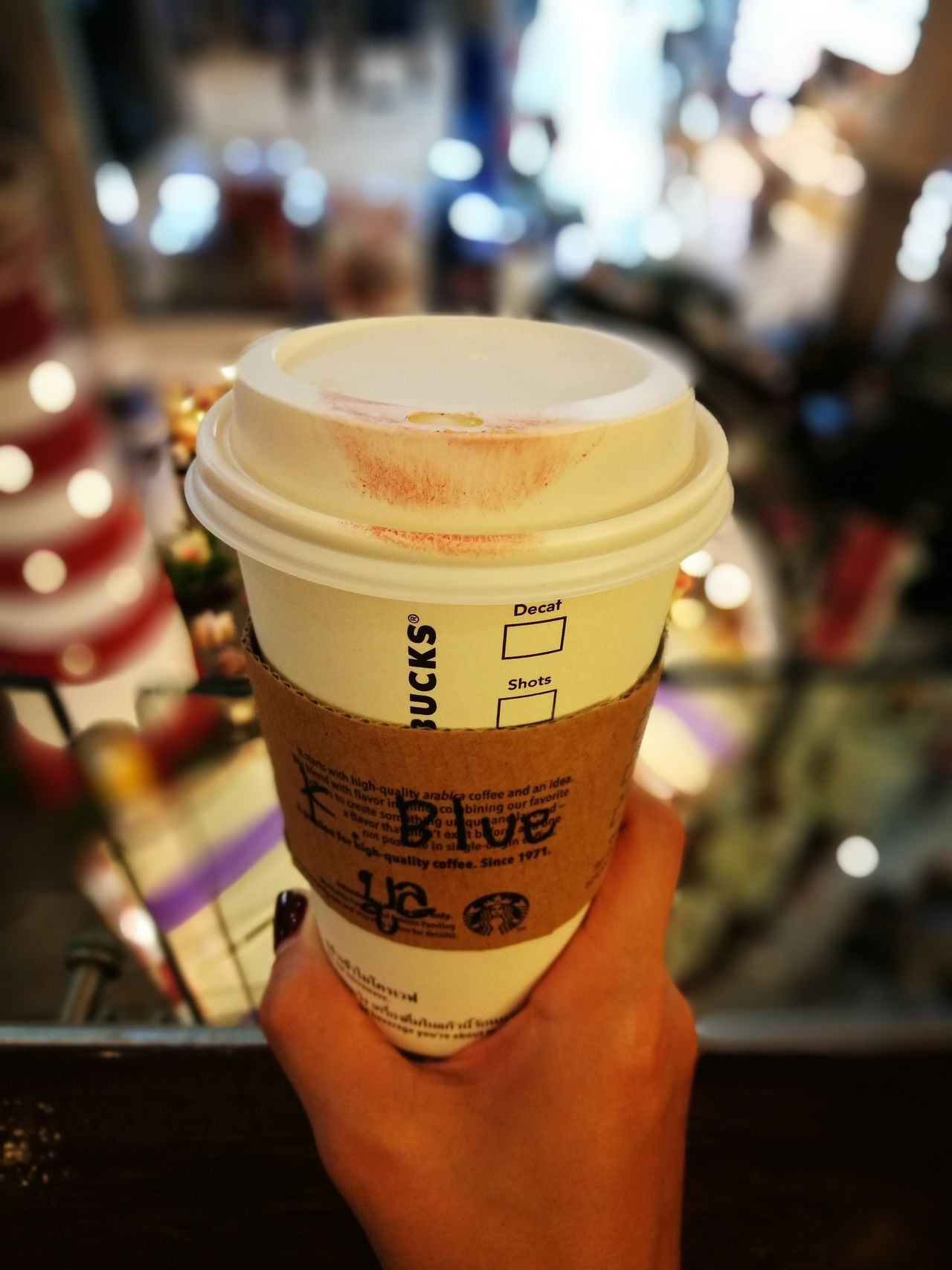 Yeah!! It's mine, wanna share? 😋 Coffee - Drink Focus On Foreground Indoors  Happy Hour Starbucks Coffee Time Coffee Break Coffeelover Coffee Lover Coffee Addict EyeEmCoffee Lover