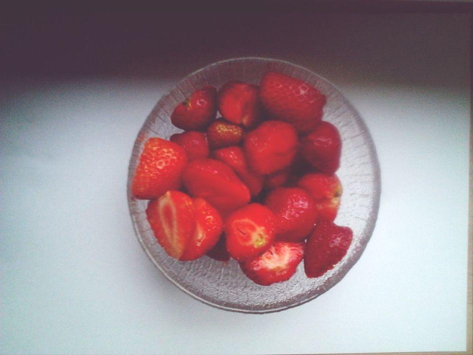 Stawberry Friut ❤️  Breakfast ♥ Food♡