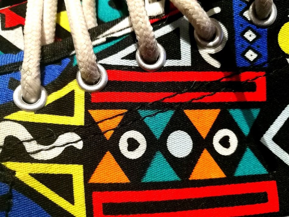 Sneaker game! Tomy Multi Colored Culture And Tradition PhonePhotography Arts Culture And Entertainment Shoegame Ndebele