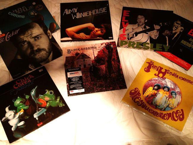 """Good friends gift you vinyls!"" Vinylcollection Dec 2015 Update Jimihendrix Blacksabbath ChickCorea Joecocker Amywinehouse Elvispresley"