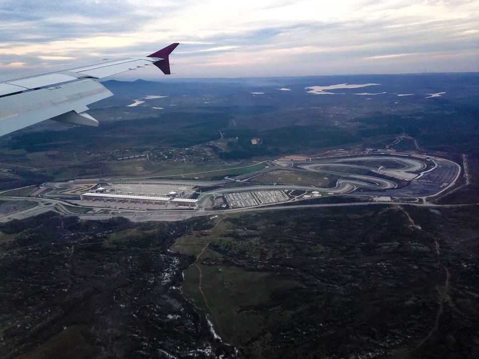 From An Airplane Window Circuit Formula 1 Traveling Istanbul Park