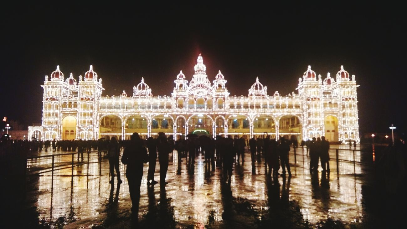 Mysoor Palace Lights Incredible India Beautiful Night Lights India Tourism Awsome Mobilephotography