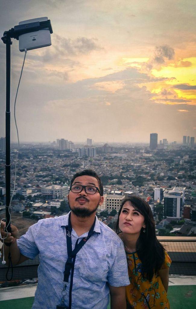 Capture the moment.. Selfie Portrait Menarabankmega INDONESIA Jakarta Modelgirl From 27th Floor Rooftop