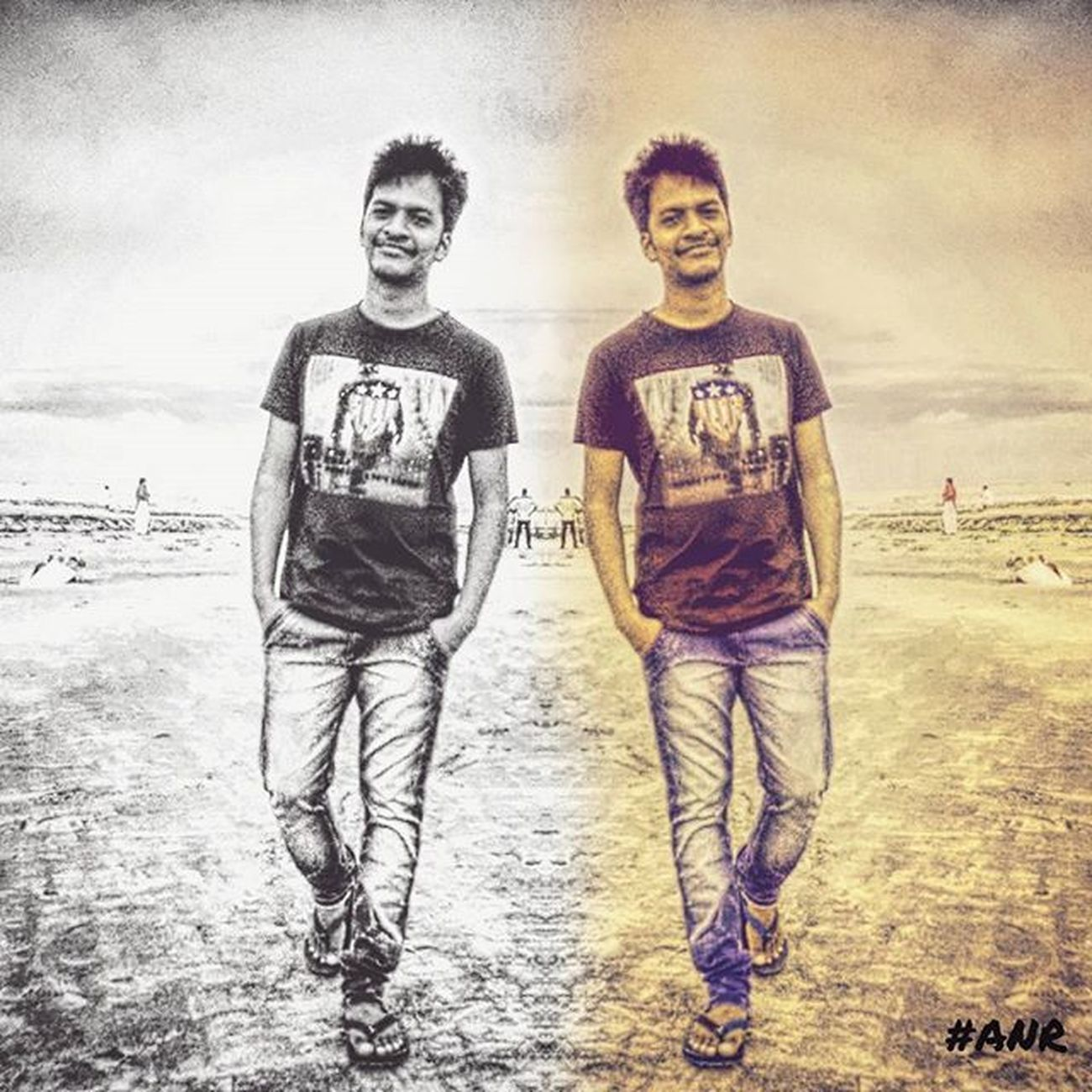 Hot Cool Dual Blackandwhite Color Vintage Beach Cuddalorebeach Walkwithstyle Smile Puma Handsome Cute CruzerClickz📷 CruzerEditz Nrd