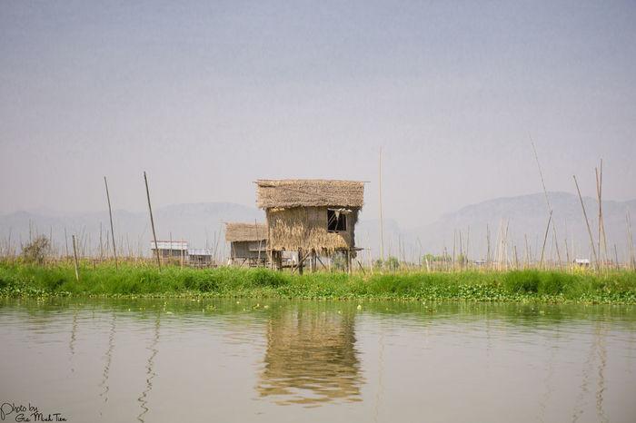 Floating House Floating On Water Green Inle Lake Inle Lake, Shan State Lake Lake View Landspace My Photos Myanmar EyeEmNewHere