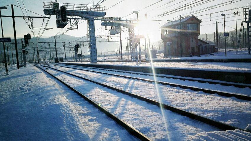 Train Station Snow