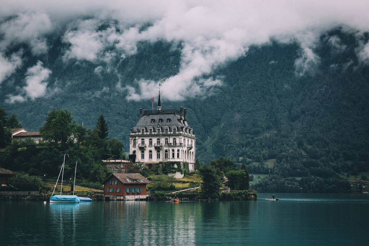 Next haunted house Beauty In Nature Earth Forest Switzerland Travel Destinations Roadtrip Mountain Traveling Fog Mountain Range Summer Landscape Travel Nature VSCO EyeEm Best Shots Explore Remote Outdoors Rural Vscocam Photography Vacations Tranquil Scene Tranquility