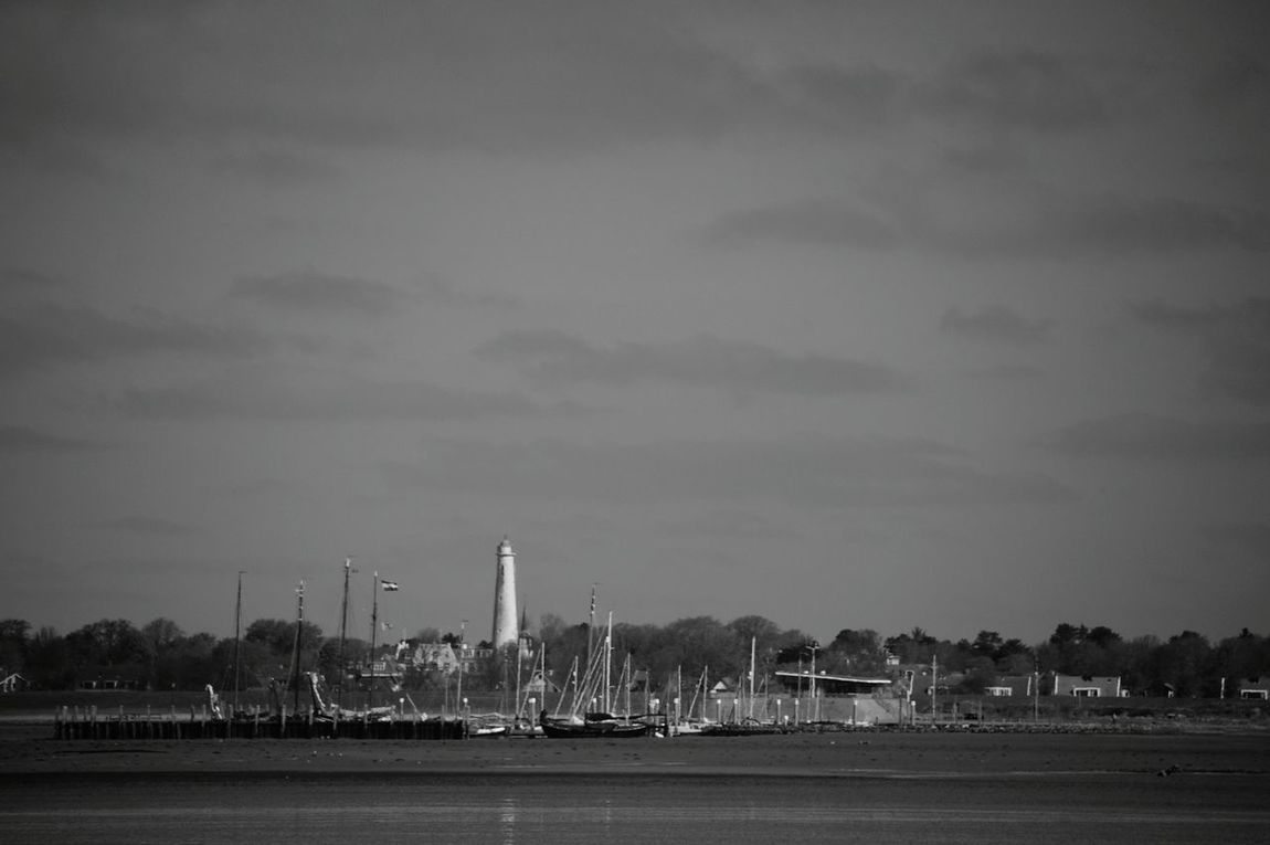 Harborside Lighthouse Sailboats Seagulls Fotography Landscape_Collection Landscape_photography Nature_collection Nature Lover Black & White Schiermonnikoog Netherlands ❤ Tideout Tide