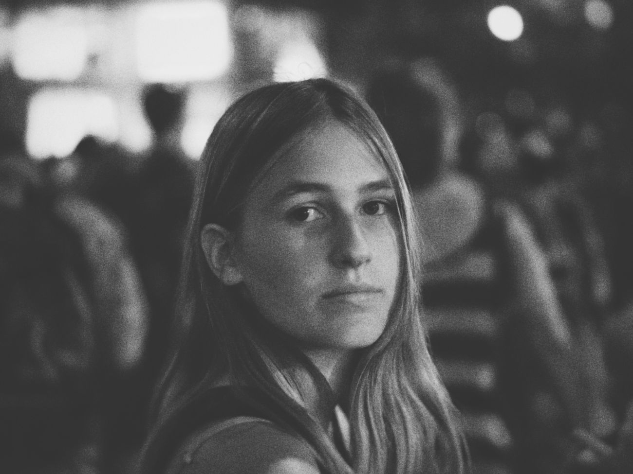 My beautiful daughter... Black & White Portrait Festival Streetphotography