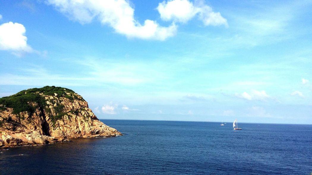 Beautiful day~ Sea Sky Rocks