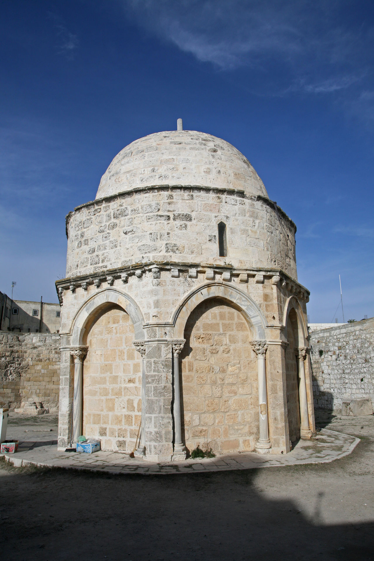 Chapel of the Ascension of Jesus Christ, Jerusalem, Israel Ancient Arch Architecture Ascension Chapel Christ Christianity Church City History Holy Holy City Holy Land Israel Jerusalem Jesus Jesus Christ Middle East Mount Of Olives Old Palestine Pilgrimage Religion Wall Worship
