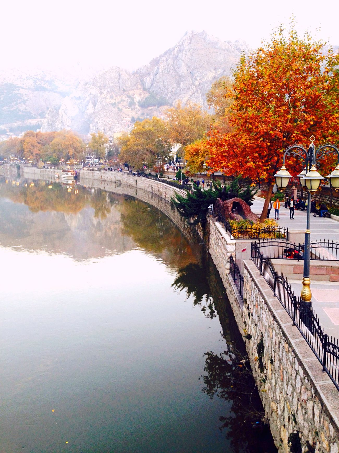 History Water Autumn Reflection Tree River Outdoors Nature Hello World EyeEm Gallery Cityscapes EyeEm Nature Lover Turkey Amasya