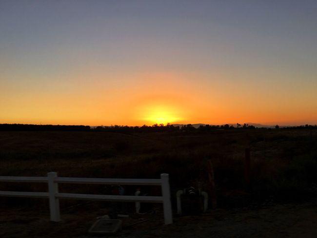 Sunset Temecula California Winecountry