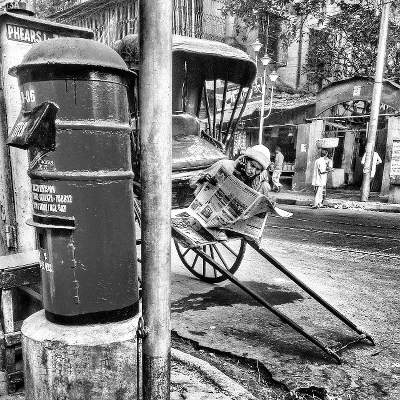 Morning news... Incrediblecalcutta Rickshaw Newspaper