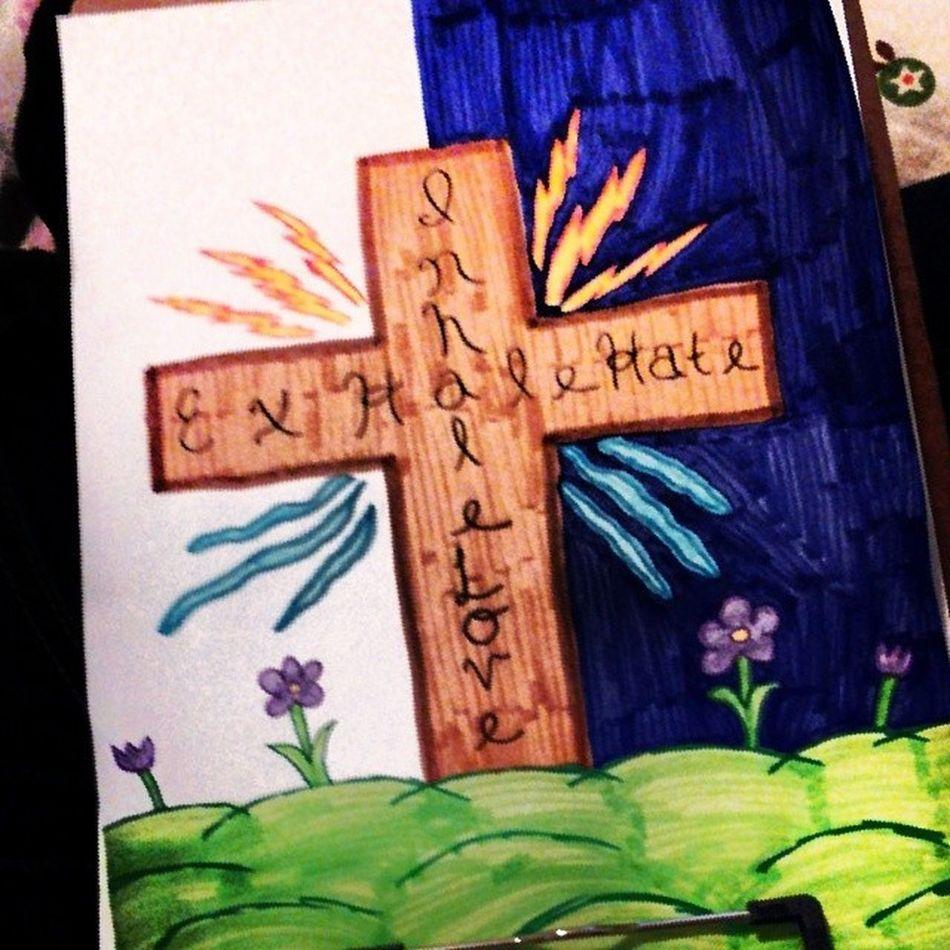 My pencil arty made into market art! Markerart Cross Godrules Flowers artsy inspired inspire inspiration inhalelove exhalehate