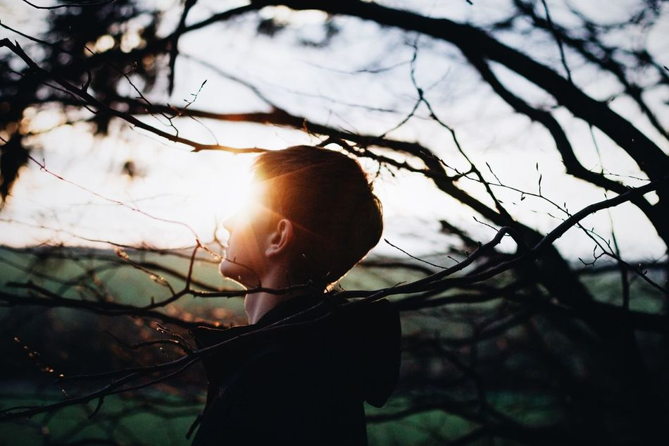 Beautiful stock photos of sleep, sky, tree, one person, real people