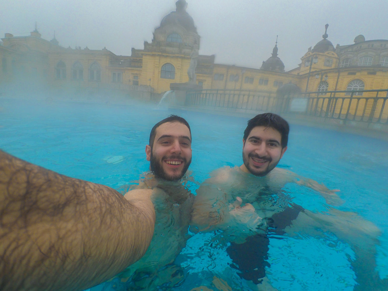Architecture Bonding Bromance Brother Brothers Budapest Budapest, Hungary Friendship Looking At Camera Mid Adult Men Pool Pool Time Poolside Portrait Selfie Selfie ✌ Swimming Swimming Pool Szechenyi Bath Széchenyi Baths Togetherness Two People Vacations Water Young Adult