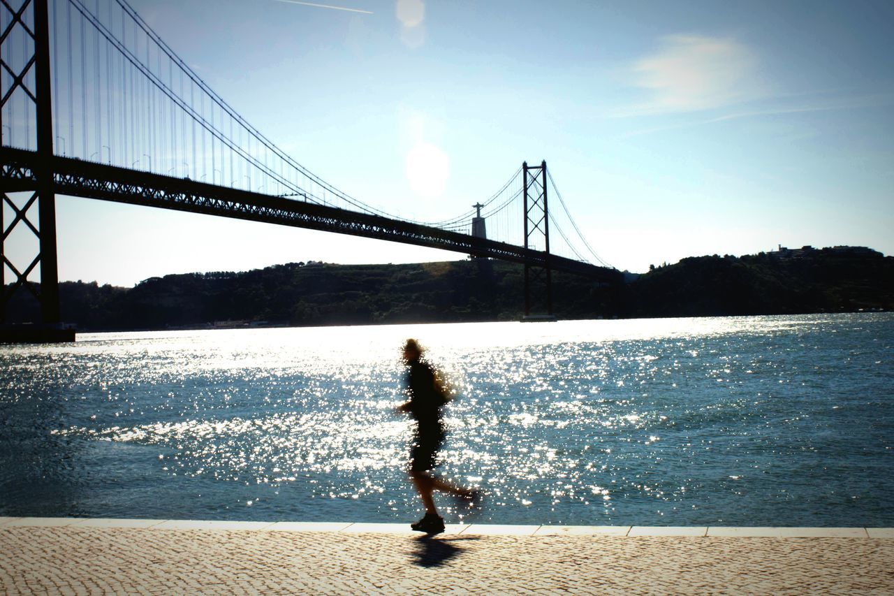 Beautiful stock photos of running, April 25Th Bridge, Architecture, Blurred Motion, Bridge - Man Made Structure