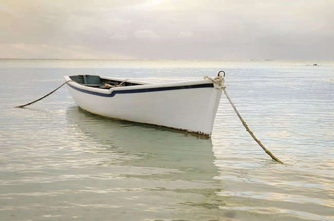 Old fishing boat Indian Ocean Indianoacen Landscape Mauritius Nautical Vessel Outdoors Reflection Sea Sky Tranquility