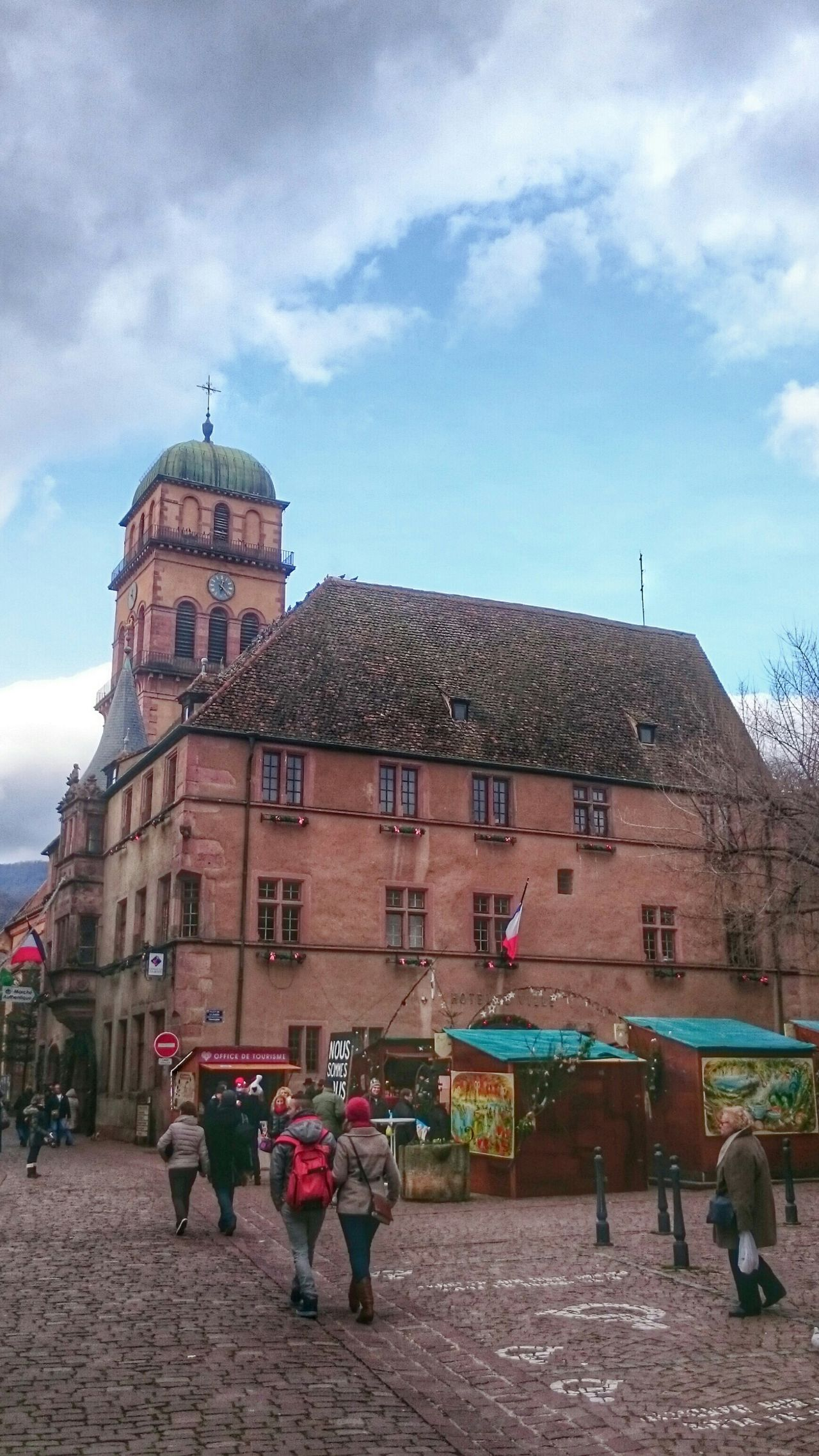 Eglise Sainte Mère Eglise Cathedrale Cathedrals  Religion Religious Architecture Kaysersberg Village Fleuri Villages Beau Village De France Famous Place Alsace Marche Noël Beautiful Alsace Alsace France Countryside Vineyard Vineyards  Vineyardvines