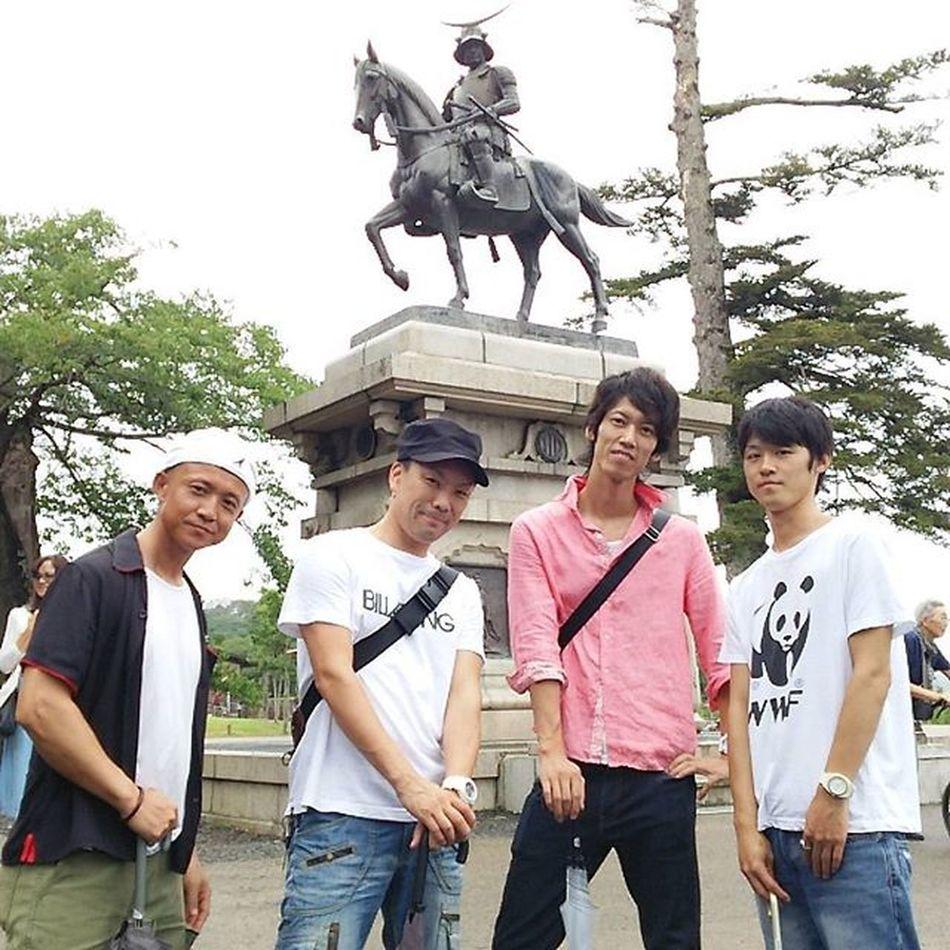 men's旅行in仙台❗ 仙台城跡 伊達政宗
