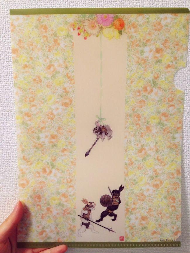Rabbit Cute Preety Art Design Clear File Folder Japanese Style Japanese Pattern