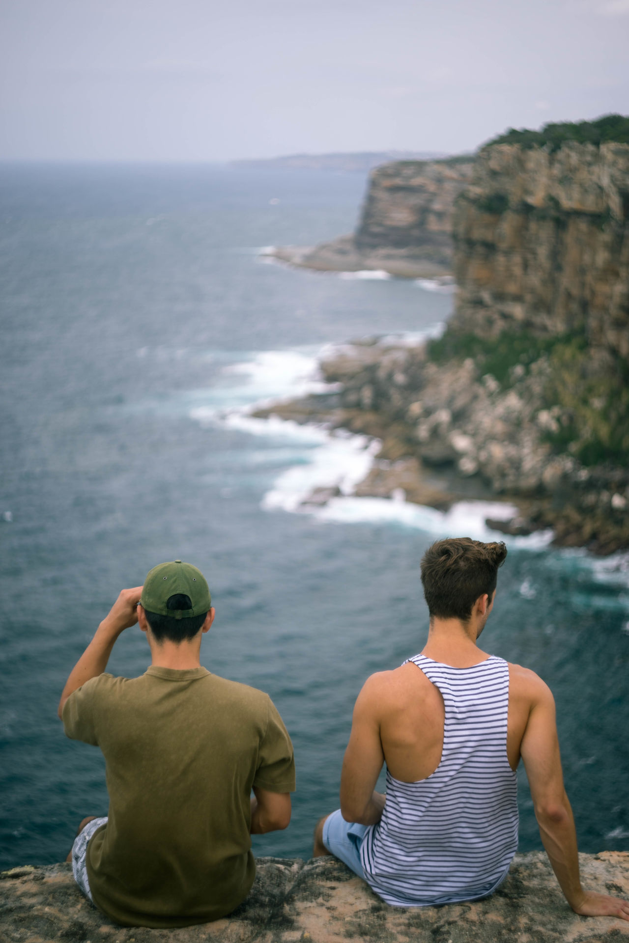 Beautiful stock photos of friends, Bonding, Cliff, Day, Focus On Foreground