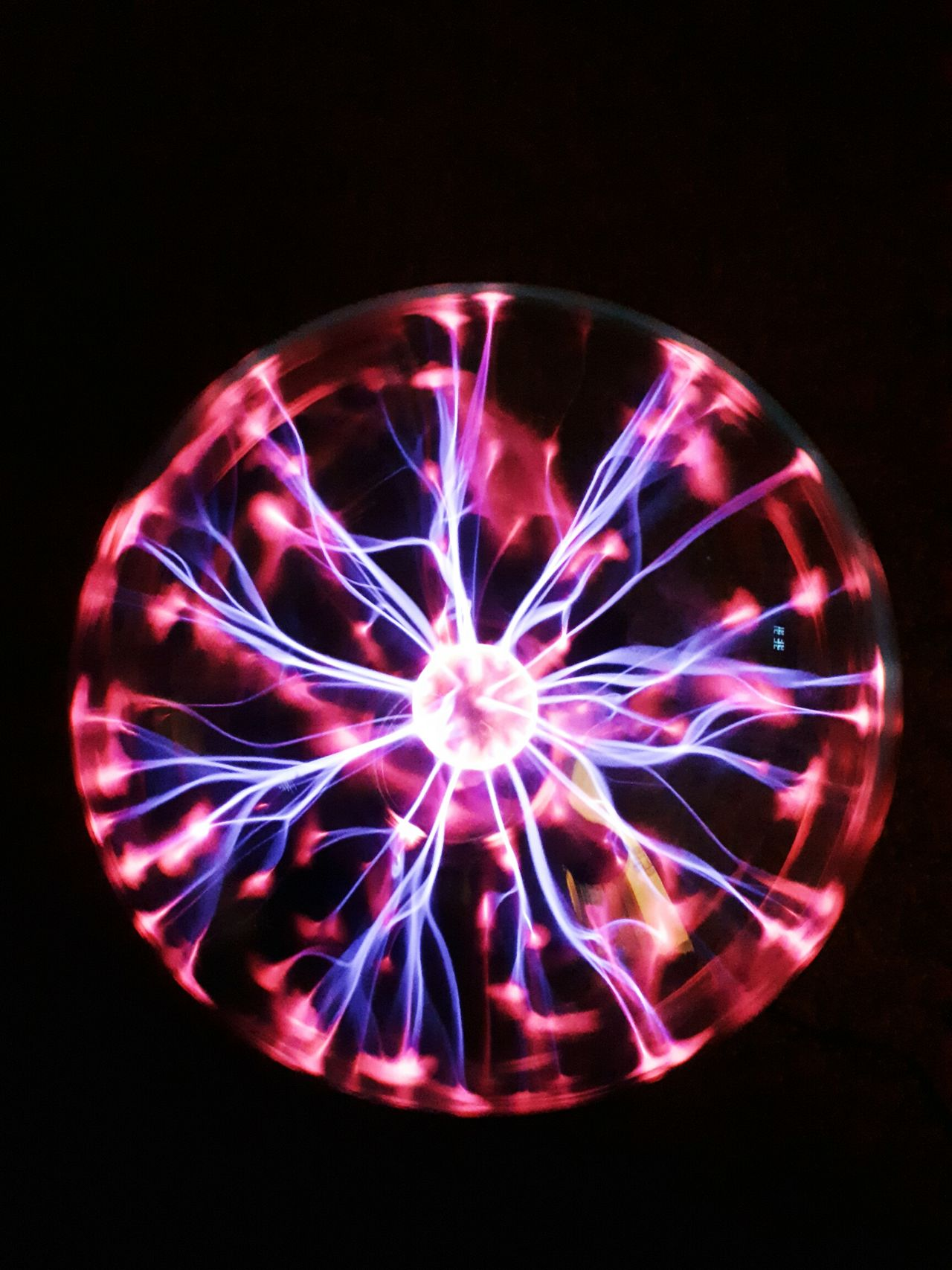 No People Black Background Plasma Ball Plasmaball Plasma Globe Plasma Lamp