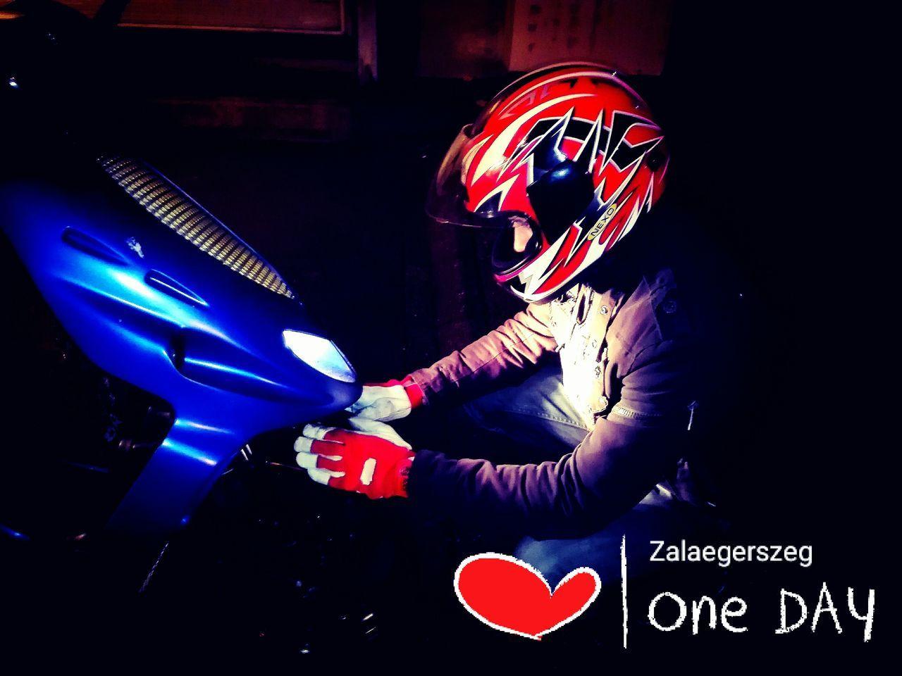 Malaguti Love Zala Zalaegerszeg Motorbike Motorcycles Scooter Night Blue Red White