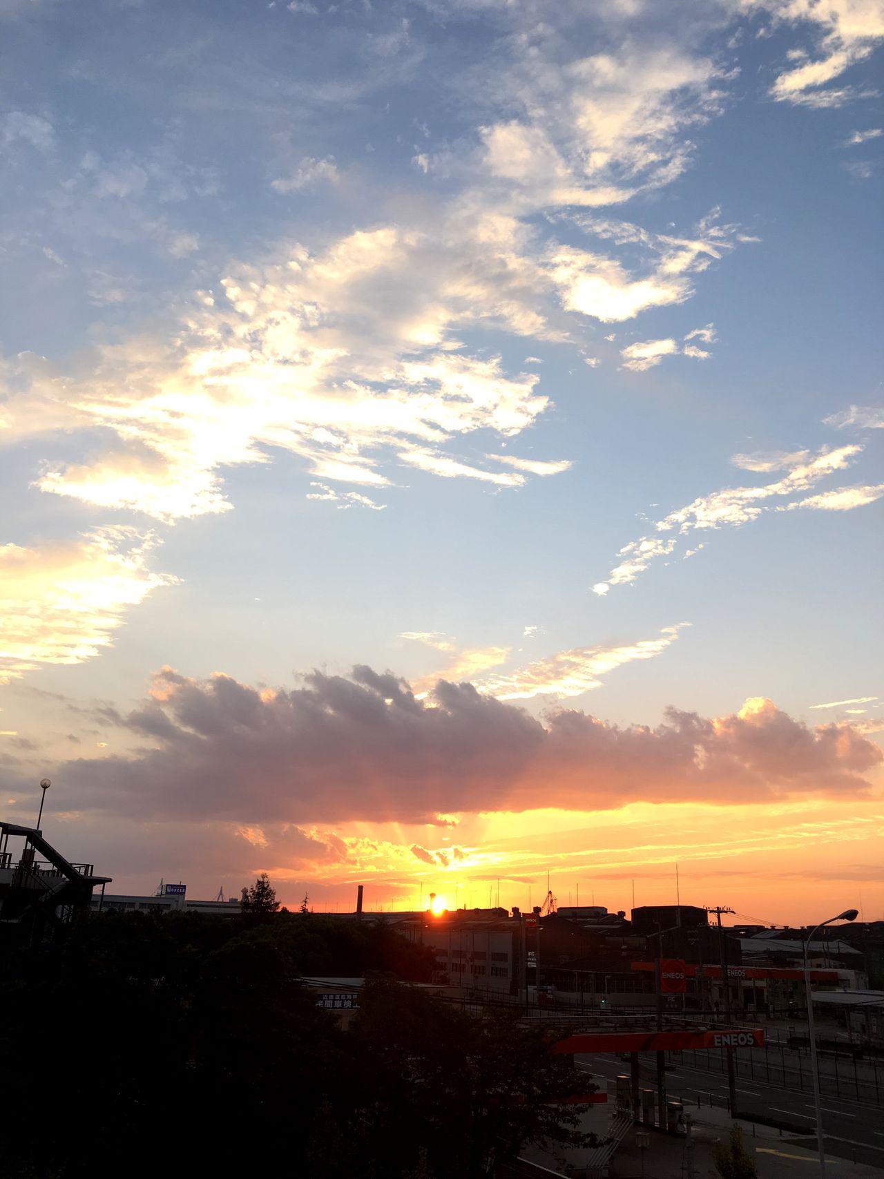 昨日の夕陽。