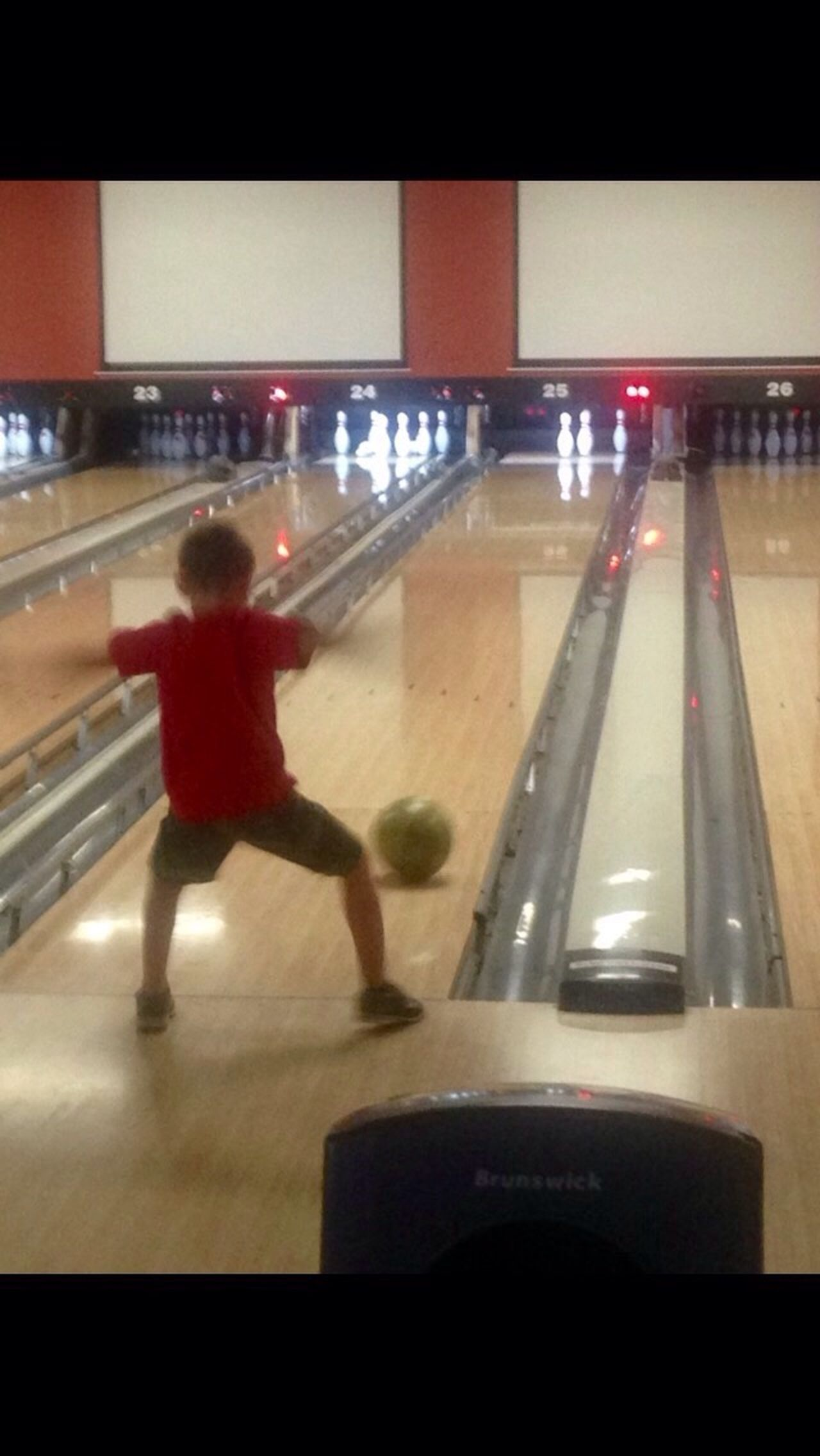 Go go go Bowling Alley Real People Indoors  Kid Fun Leisure Activity