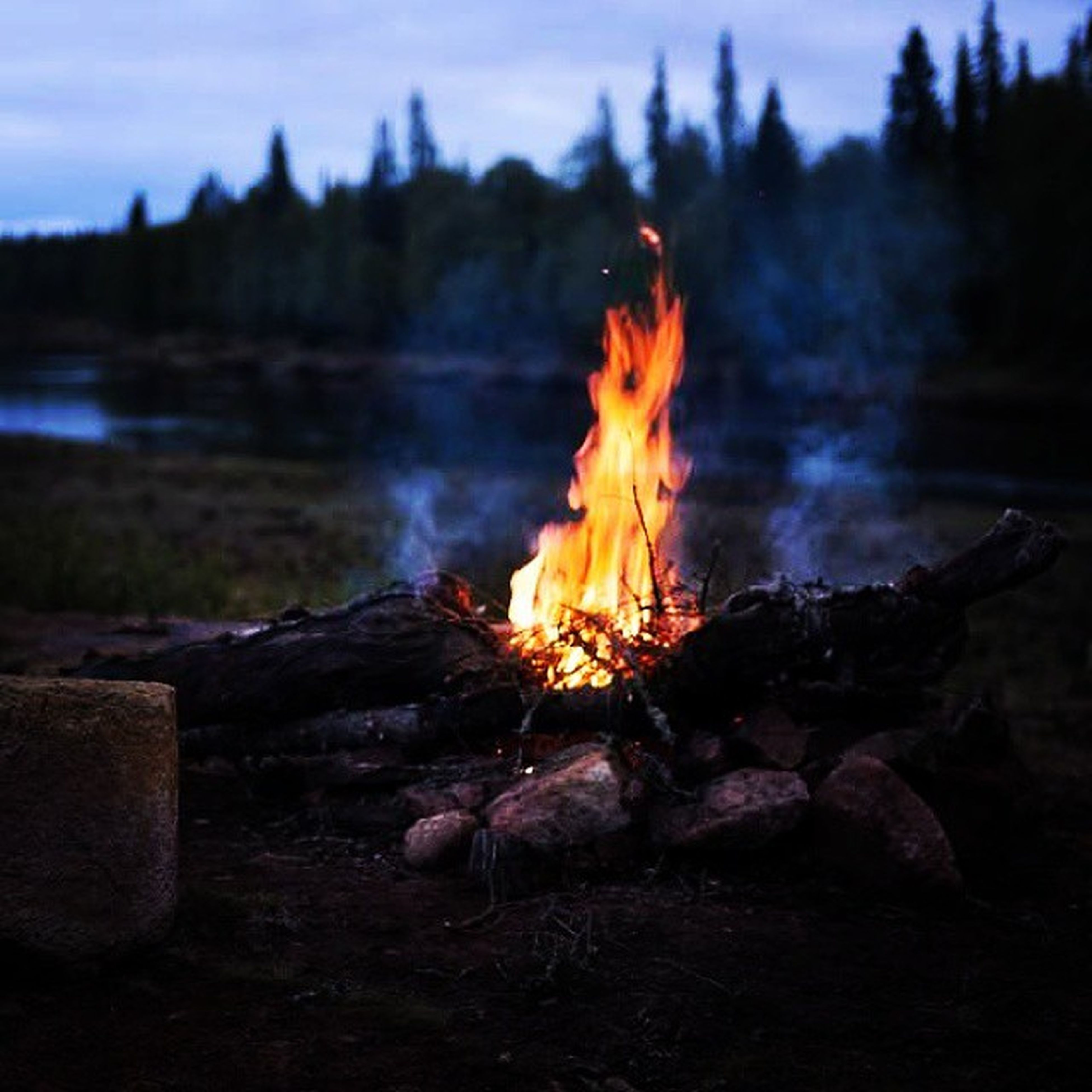 flame, burning, fire - natural phenomenon, heat - temperature, bonfire, fire, firewood, campfire, glowing, orange color, close-up, heat, sunset, focus on foreground, motion, outdoors, nature, no people, long exposure, log
