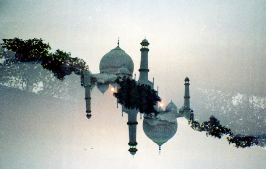 35mm Agra Analogue Photography Architecture Double Double Exposure Film Historical Building India Landmark Palace Revolog Taj Mahal Tomb Travel Destinations Wonder Of The World Showcase July Cut And Paste