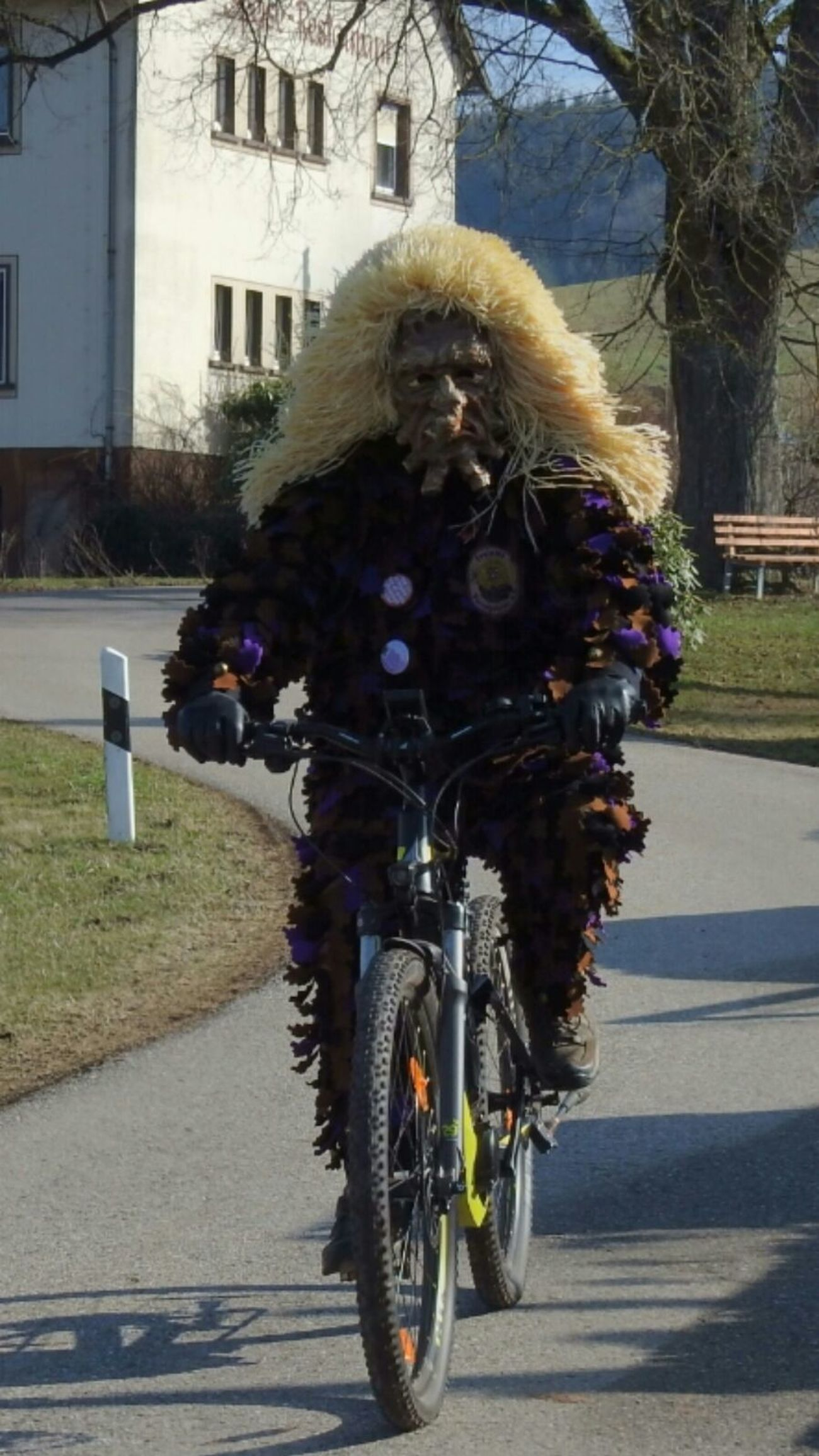 Wurzelgeister Outdoors One Person People Mode Of Transport Transportation Cycling Bicycle Day Carneval