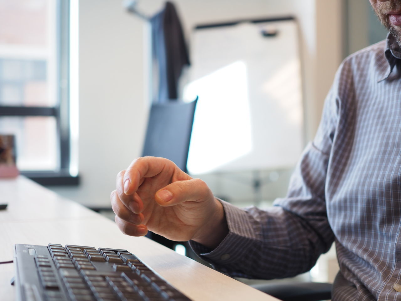 Business Business Person Businessman Communication Computer Keyboard Human Hand Keyboard Man Monitor Occupation Office Office Office View Officeman One Person Shirt Shirt Man Technology Typing Using Computer White Collar Worker Work Work Man Working Employed
