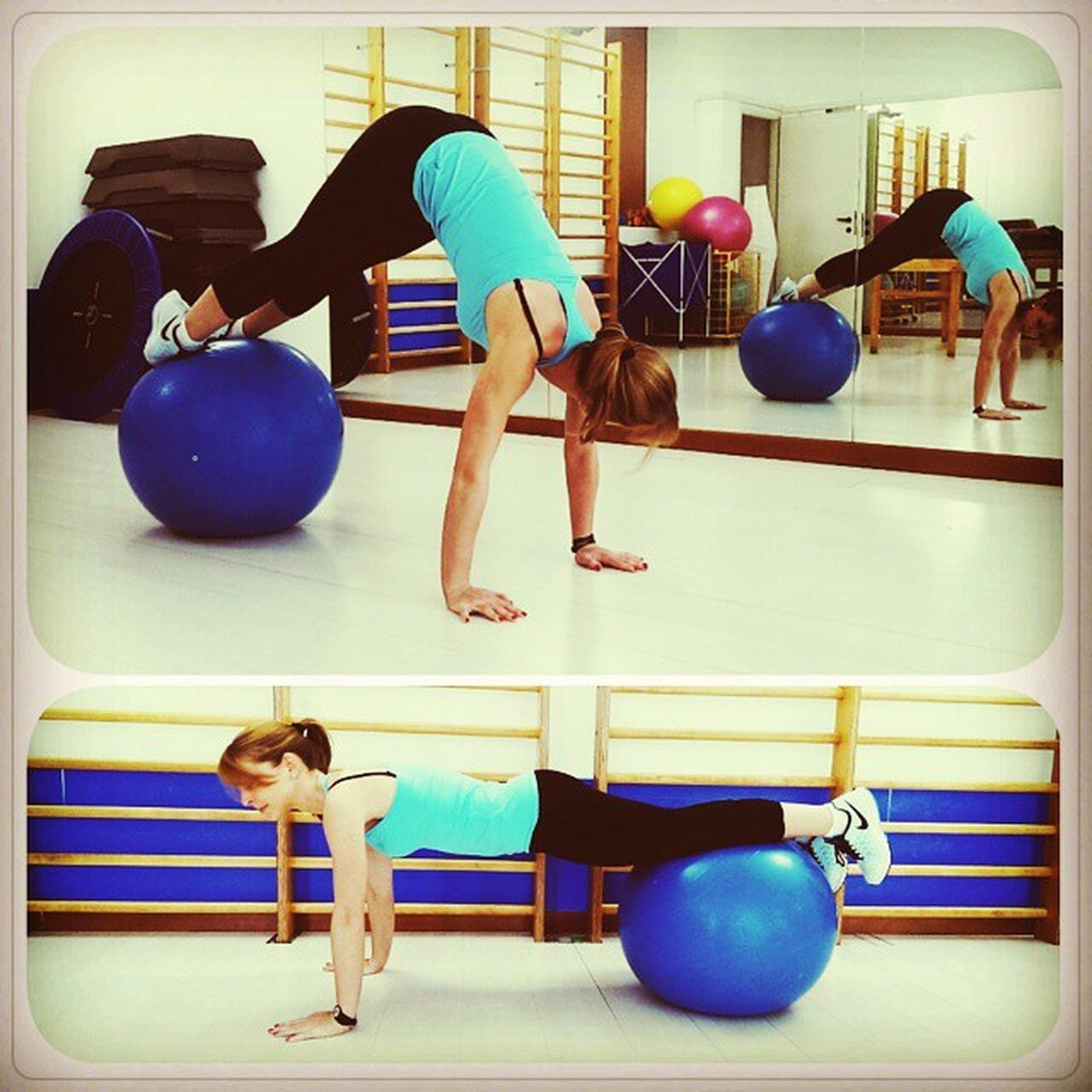 Chinesio Fitness Fitball Befit Gym Picoftheday Instafit Instafitness Instagramers Jacknife Befitness Blonde Instablonde