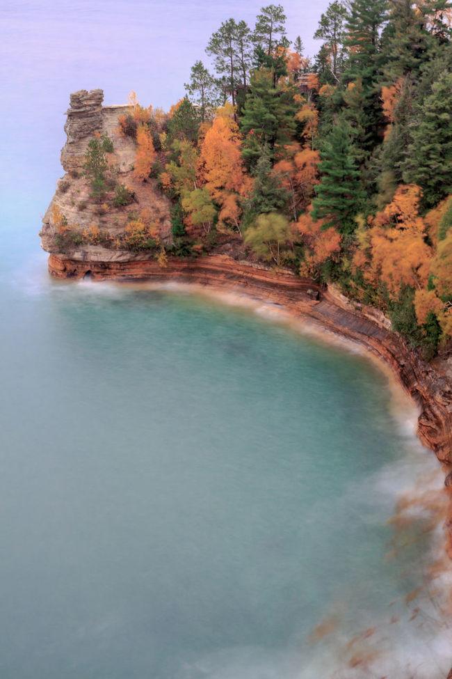 Beauty In Nature Coastline Lake Superior Lake Superior Upper Michigan Shore Miners Castle No People Pictured Rocks National Lakeshore Pure Michigan Scenics Tranquil Scene