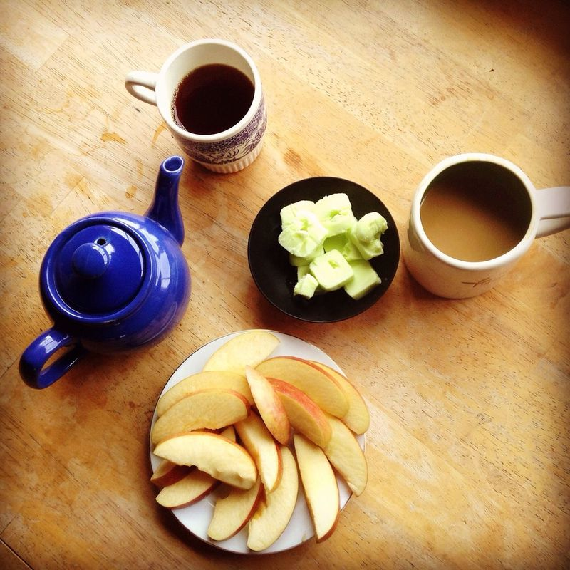 Home Is Where The Art Is Saturday Merienda... Chai Coffee Time Melona Teapot Apples Anybody? Interior Style