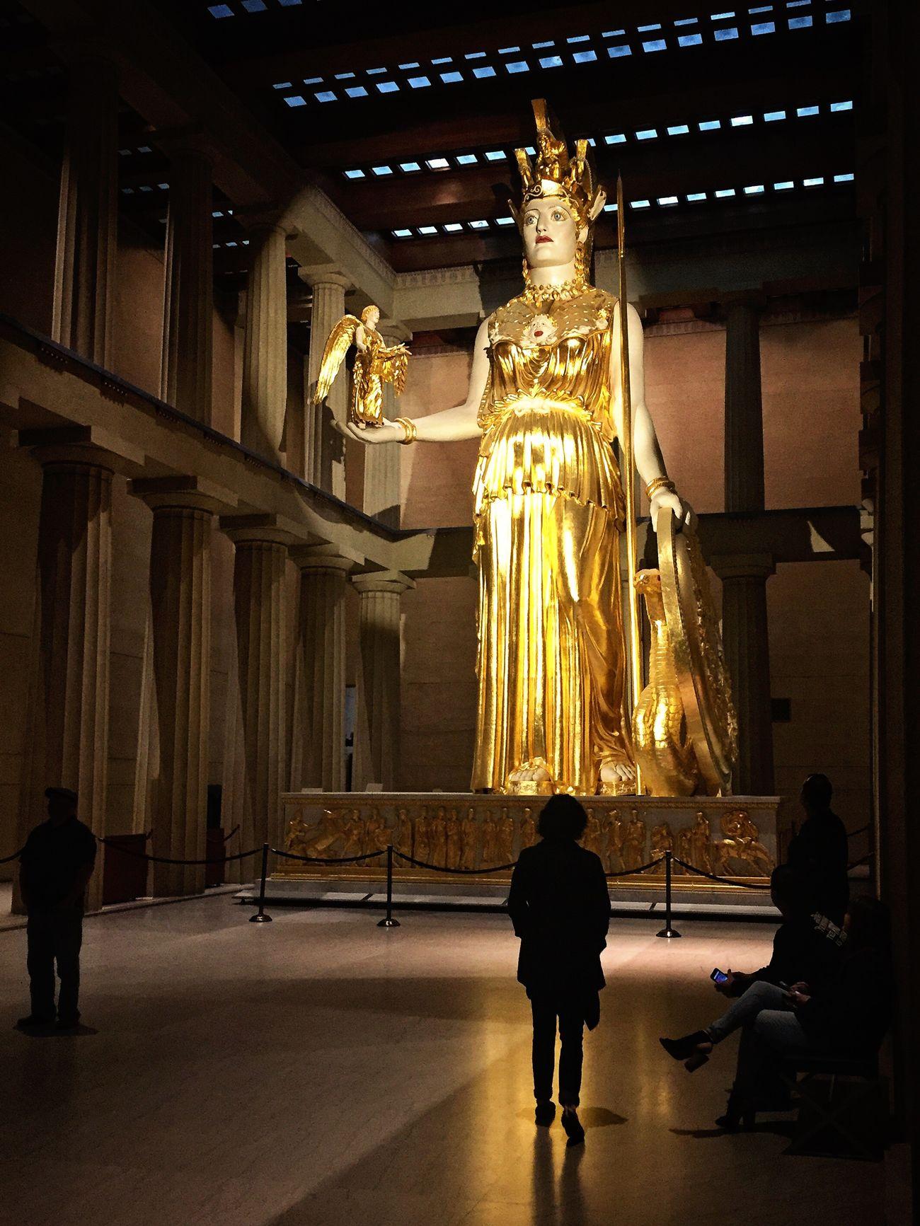 Statue Athena Sculpture Museum Parthenon Strength Nashville