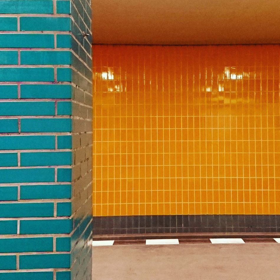 Architecture Brick Wall Indoors  Tile Textured  Underground Tiles Architecture Design Interior Metro Station Metro Tiles Colorful Tiled Wall Close-up Indoors  Underground Station  Underground Station  Subway Station From My Perspective
