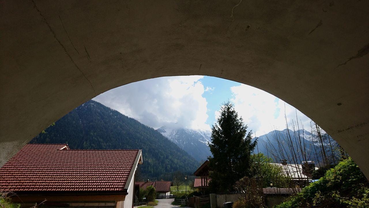 Under the bridge. · Germany Bavaria Bayern Alpine Foreland Alpenvorland Village Bridge Under The Bridge Mountains View Perspective Nice Day