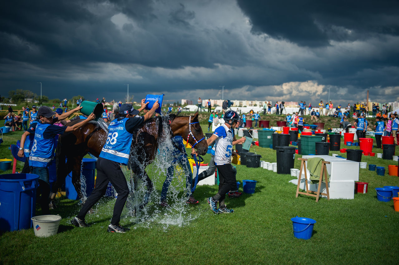Adult Cloud - Sky Community Crowd Day Endurance Endurance Racing Equestrian Full Length Grass Horse Horse Riding Landscape Large Group Of People Outdoors People Sky Sport Stadium Women Young Women