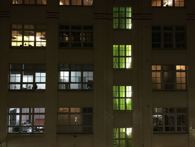 Apartment Architectural Feature Architecture Building Building Exterior Building Story Built Structure City City Life Exterior Façade Full Frame Glass - Material Illuminated Low Angle View Night No People Office Building Outdoors Repetition Residential Building Residential Structure Tall - High Window