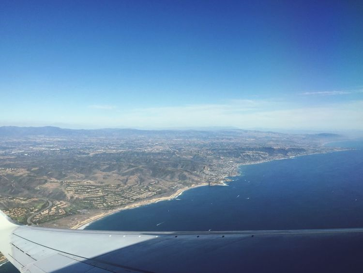 Taking Pictures From An Airplane Window Pacific Ocean California