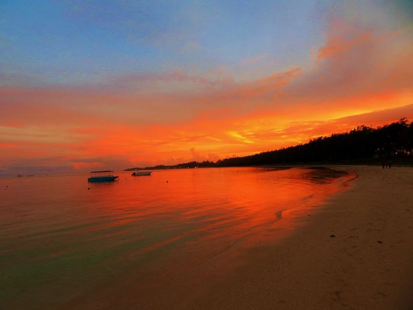 Sunset At Belle Mare Plage