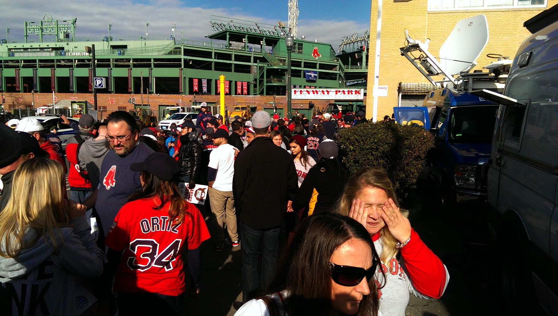 Boston Red Sox rolling rallyParade