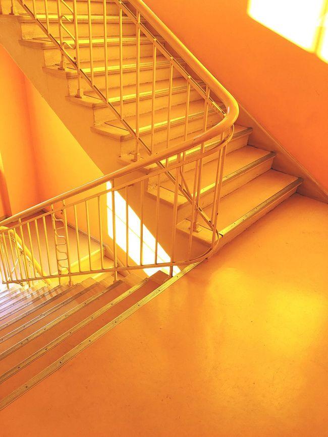 Orange Steps Staircase Stairs Berlin Studio