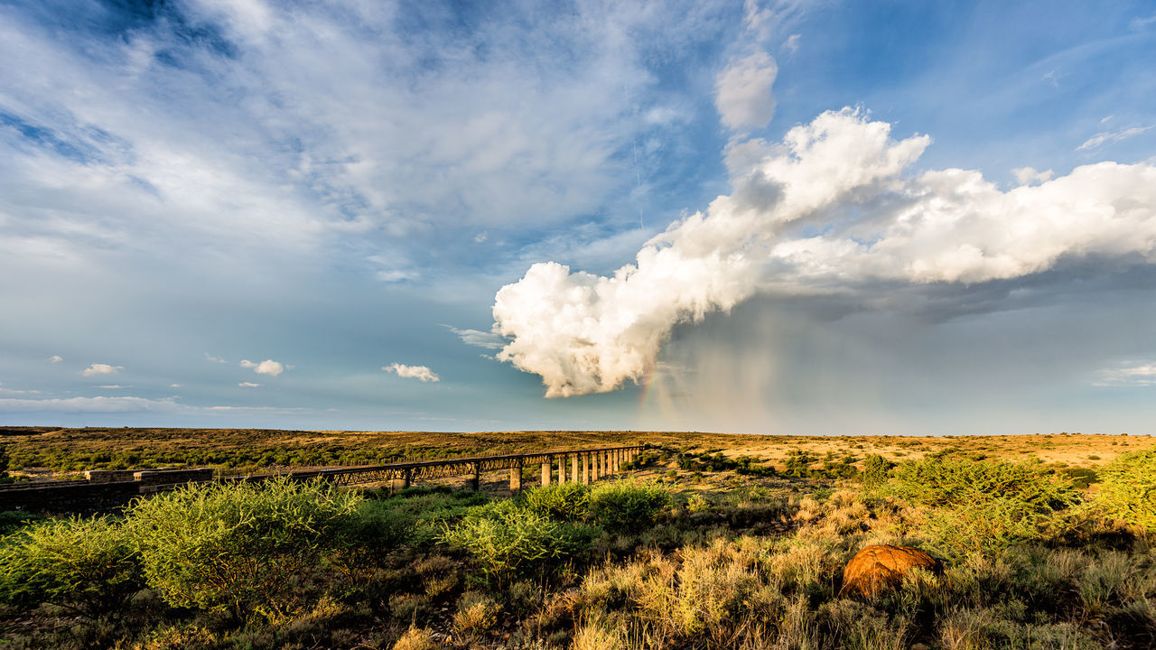 Cloud column Bridge Bridge - Man Made Structure Cloud - Sky Clouds Histric Place Karoo Karoospaces Landscape Nature No People Orange River Outdoors Rain Rainbow Storm Storm Clouds