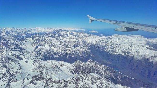 The Great Outdoors With Adobe Andesmountains Snow ❄ Aerial View Frozen Chile Argentina Landscape Nature
